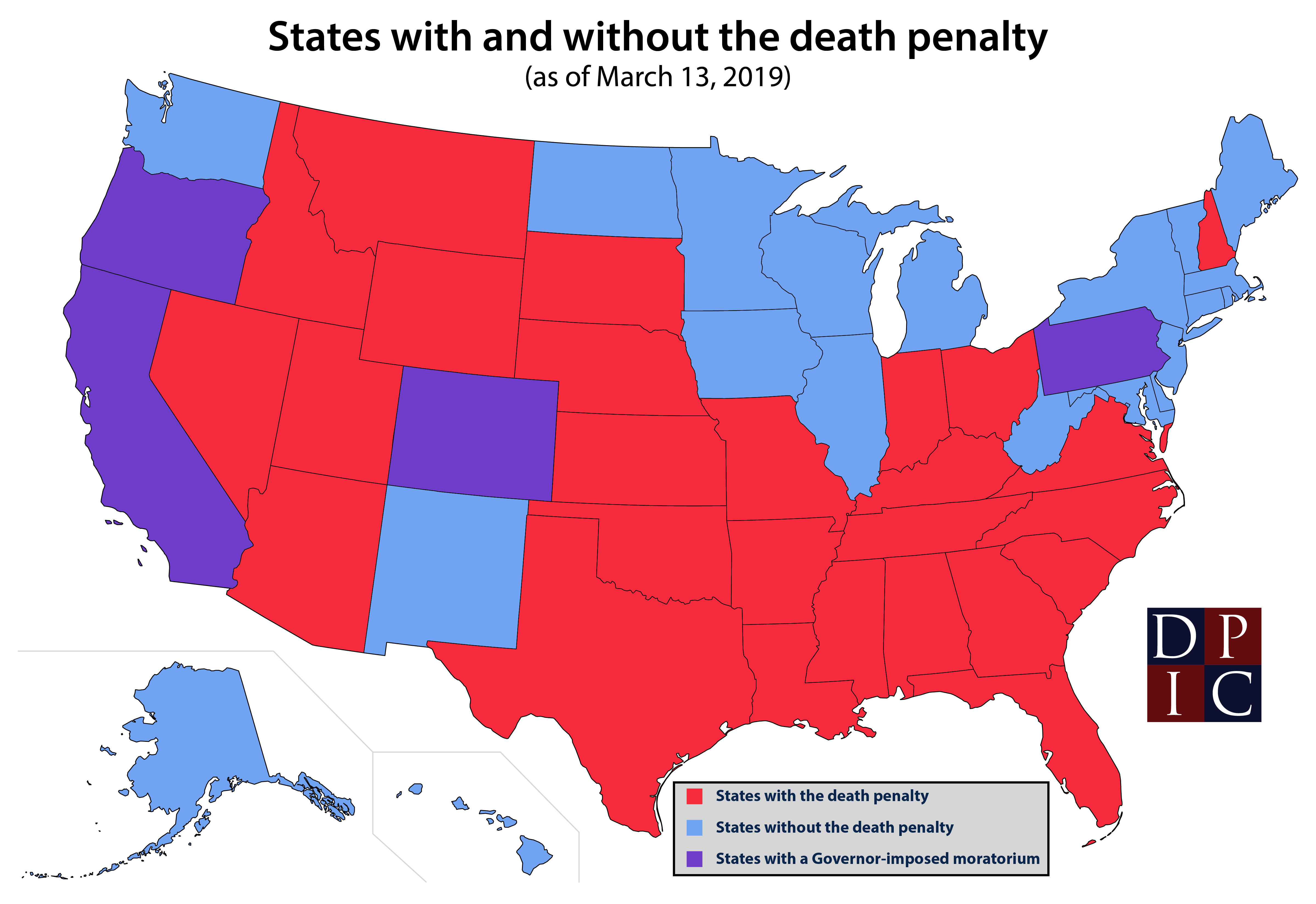 States With and Without the Death Penalty | Death Penalty ...