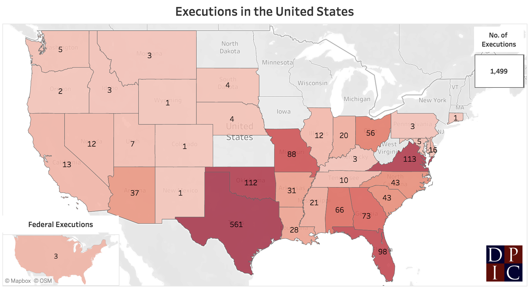 executions rate by state