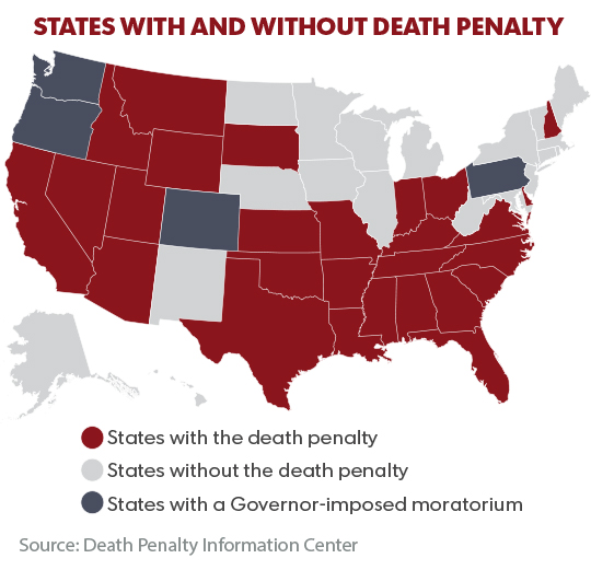 an analysis of the use of death penalty in the united states United states of america's death penalty laws and how they are applied, including death row and execution numbers, death-eligible crimes, methods of execution, appeals oklahoma provides that firing squads may be used as a method of execution only if lethal injection and electrocution are found to be unconstitutional.