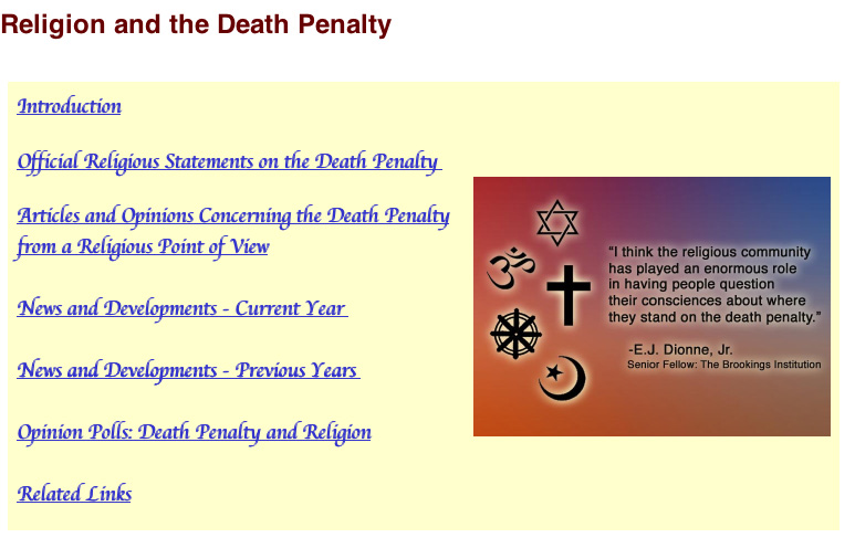 A religious ranting on the death penalty